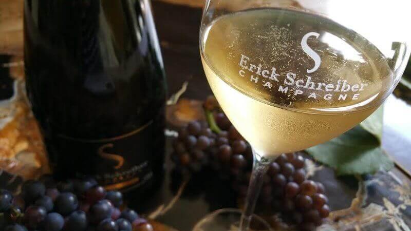 Verre de champagne bio et naturel